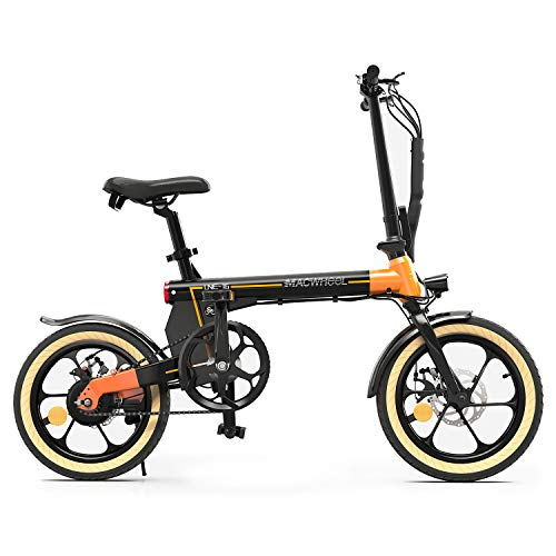 Macwheel 16' Electric Bike, 250W Powerful Brushless Motor, 36V 7.5Ah Large Capacity Battery, Folding City Electric Bicycle for Commuting