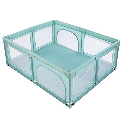 Bamny Recinto Box per Bambini Recinto di Sicurezza Protettiva per Bambini Centro Attività all\'interno e all\'esterno con Ventosa, Ampio Punto di Ingresso per Gattonare Dentro e Fuori (200 * 180 * 68cm)