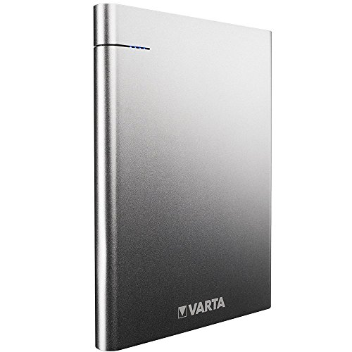 VARTA Slim Power Bank 18000 mAh - Externer Li-Polymer Akku (mit 2 USB Ausgängen USB Typ C 5V/3.0, USB 5V/2.4A - geeignet für Apple, Samsung, Huawai und weitere Geräte - inkl. 50 cm Micro USB Kabel)