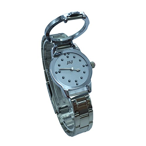Orologio Tattile al Quarzo per Non Vedenti o gli Anziani Quadrante Grigio (Donna)