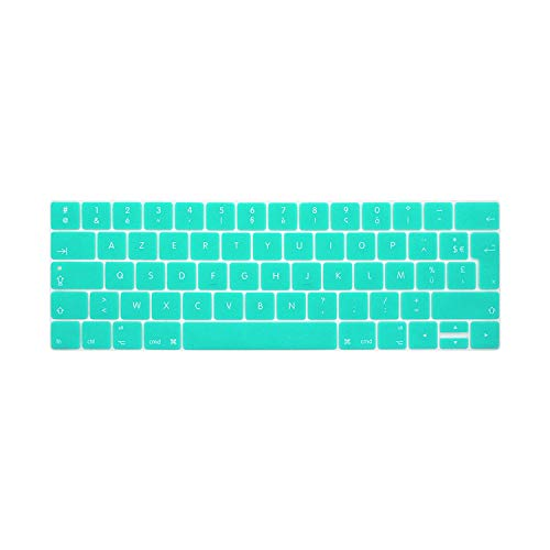 French Language Keyboard Cover Coque Clavier Pour For Macbook Pro 13 15 Touchbar 2016 Models A1706 A1707-Whiteblue-