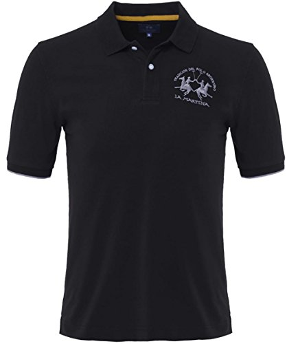 La Martina einfaches Polo Shirt Schwarz L