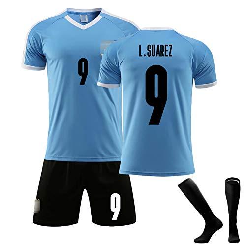 DFGH Ropa de fútbol para Hombres 2021 Inicio Uruguay Suárez 9 Cavani 21 Jersey, Adultos y niños Camiseta de fútbol Camiseta Kits Shorts NO.9-28