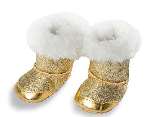 Heless 840 - Stiefel für Puppen, gold, Größe 38 - 45 cm
