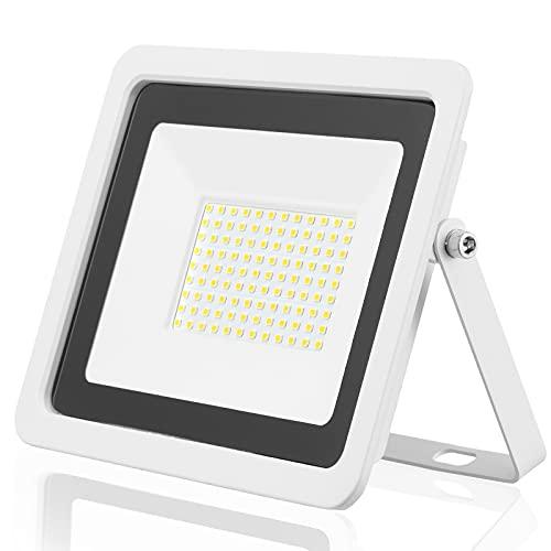 EOCOYAR Luz de Inundación LED 100W 50W 30W 20W 10W Reflector Blanco Ultrafino Foco Proyector Led 230V IP68 Iluminación Exterior Impermeable(30W,Blanco Frio)