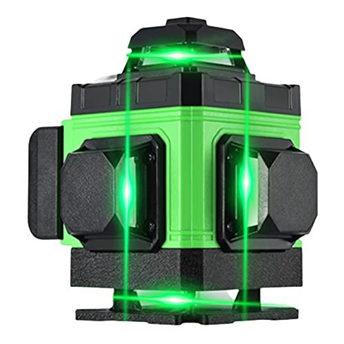 SXTYRL Nivel láser, Verde Línea, Líneas Láser, Multifuncional Autonivelación, Línea De Rayo láser, Interior Montaje Pared, Recargable Batería (Color : Green)