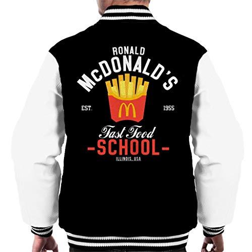 Cloud City 7 Ronald McDonalds Fast Food School Men's Varsity Jacket
