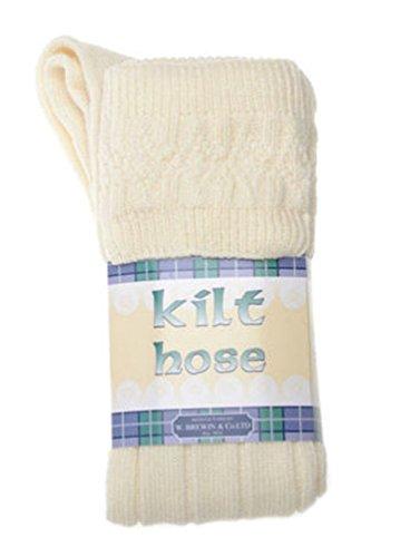Kinder Kilt Socke, Cremefarbe, 12-24 Monate