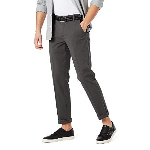 Dockers Men's Slim Fit Workday Khaki Smart 360 Flex Pants, Storm (Stretch), 34W x 32L
