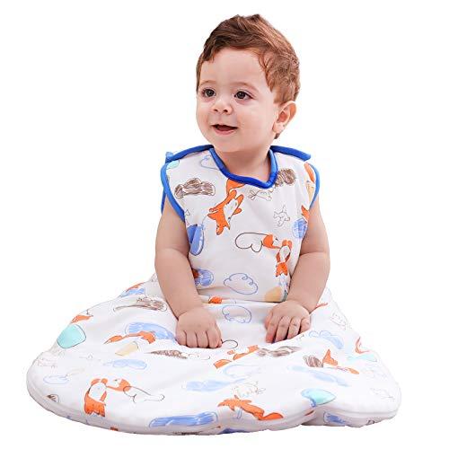 Mosebears Saco de dormir para bebé, de invierno, 2,5 tog, 100% algodón, transpirable