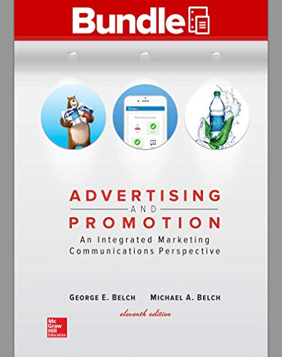 Compare Textbook Prices for GEN COMBO LOOSELEAF ADVERTISING AND PROMOTION; CONNECT ACCESS CARD 11 Edition ISBN 9781260149067 by Belch, George