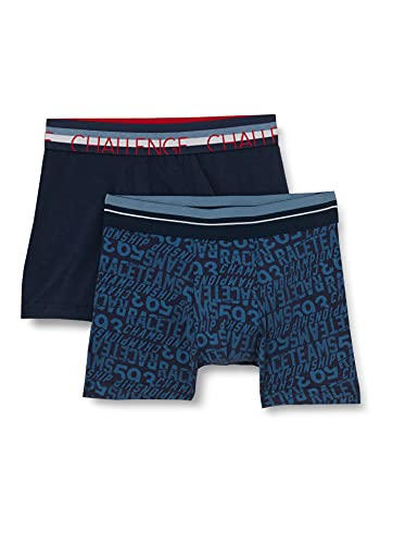 Sanetta Jungen Doppelpack Hipshort blau Unterwäsche, Navy, 152 (2er Pack)