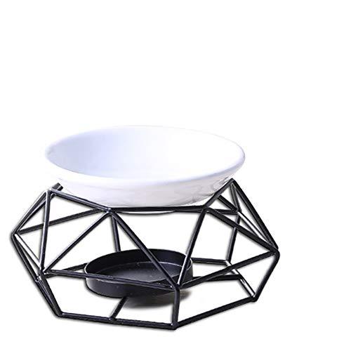 Essential Oil Burner metallo Tealight Holder, titolare di candela, decorazioni domestiche, nero (senza candela)