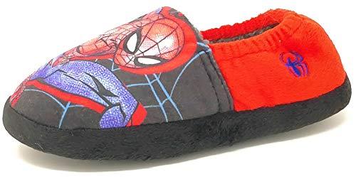 Pantuflas de Spiderman para niños mayores, sin cordones, color rojo y negro, talla 8-2, color Rojo, talla 33 EU