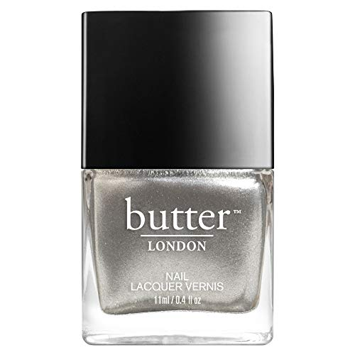 butter LONDON Nail Lacquer, Grey & Silver Shades, Diamond Geezer