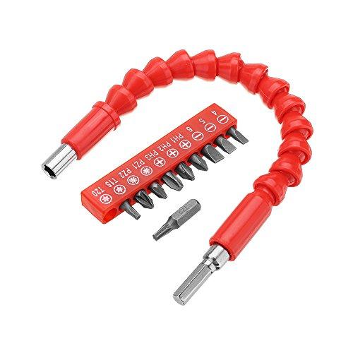 MJJEsports MJJEsports 300mm flexibele as met 10 stks schroevendraaier bit en extensie staaf voor elektronische boren