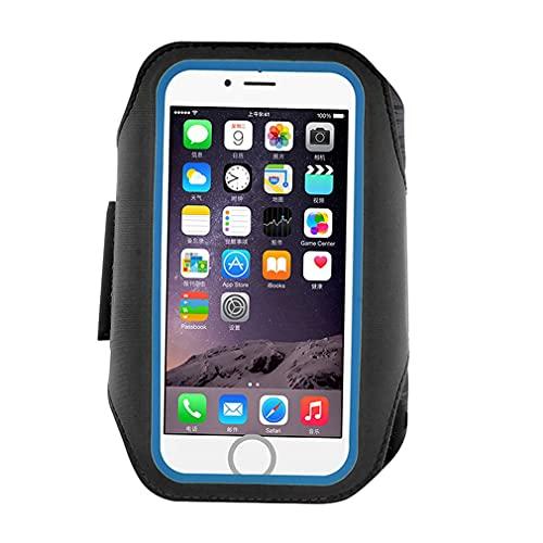 HehiFRlark Estuche con Banda para el Brazo táctil con Huellas Dactilares Adecuado para iPhone 7 Plus / 6 Plus Negro