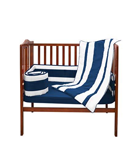 Baby Doll Lodge Collection Mini Crib/Port-a-Crib Bedding Set in Royal Blue