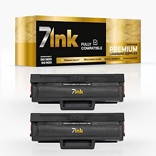 Logic-Seek - Tóner para Samsung MLT-D1042S x2 (repuesto para impresoras Samsung ML-1660, ML-1865, ML-1670, ML-1675, ML-1860, SCX-3200, SCX-3205, SCX-3205W), color negro