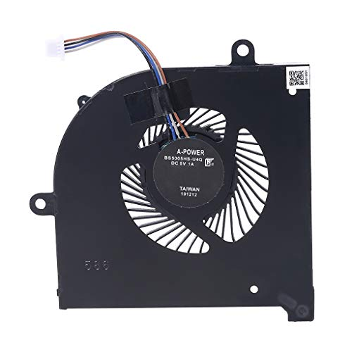 EWAT Ventilador de enfriamiento de la GPU de la CPU, ventilador de enfriamiento de la CPU del ordenador portátil BS5005HS-U3I para MSI GS75 GP75 MS-17G1 MS-17G2 radiador disipador de calor