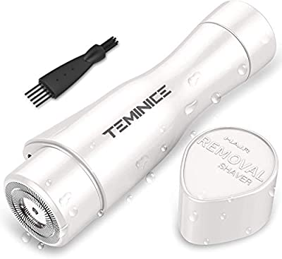 TEMINICE Professional Facial Hair Removal for Women, Electric Painless Perfect Hair Remover Trimmer for Face, Armpit, Chin and Full Body, Waterproof with LED Light