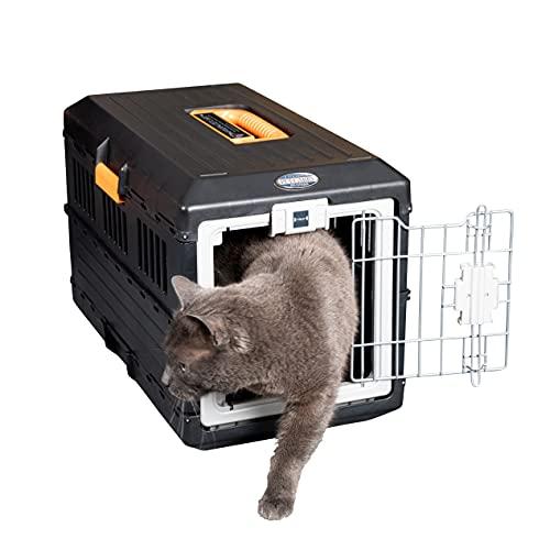 Iris Ohyama, Faltbare Transportbox / Transportkiste, 2 Öffnungen (Vorder- & Rückseite), Tragegriff, ausgezeichnete Luftzirkulation, für Katze & Hund max. 20 kg - Pet Carry