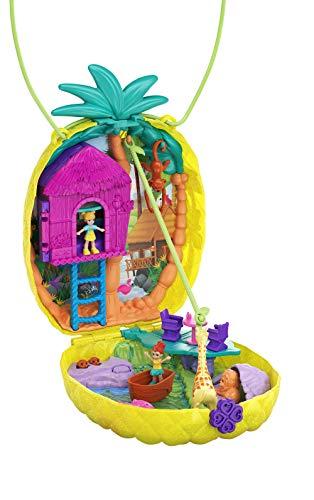 Polly Pocket- Cofanetto Borsetta dei Segreti Ananas Polly Giocattolo per Bambini 4+Anni, GKJ64