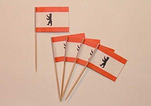 U24 Flaggen Zahnstocher Berlin Flagge Fahne Minipicker