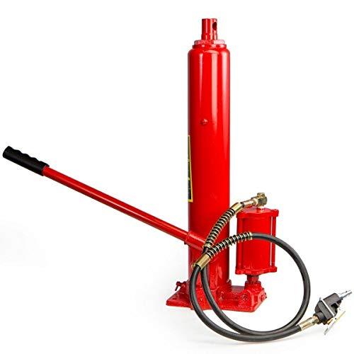 9TRADING 2 in1 8 ton air Manual Hydraulic Ram Jack Pump Engine Lift Hoist Cherry Picker