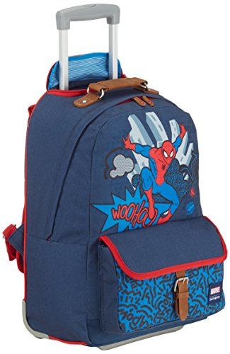 Disney By Samsonite Stylies Zaino con Ruote Marvel, Poliestere, Spiderman Pop, 23.5 ml, 47 cm