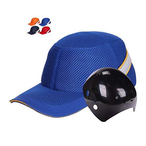ZYDSD Moda Grid Bump Cap Sombrero Duro Estilo De Béisbol Sombrero Protector ABS Anti-Rotura Cubierta Interna Tamaño Ajustable Hebilla del Casquillo Espuma EVA Aumentada Interior