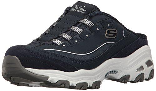 Skechers Sport Women's D'Lites Fashion Sneaker, Navy/White, 7.5 M US