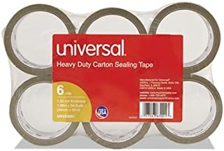 2 Rolls Clear,UNV91 2 x 55 yds Universal Heavy-Duty Box Sealing Tape 3 Core