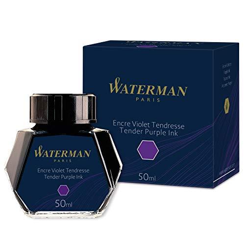 Waterman - Tinta para pluma estilográfica, morado tierno, frasco de 50ml