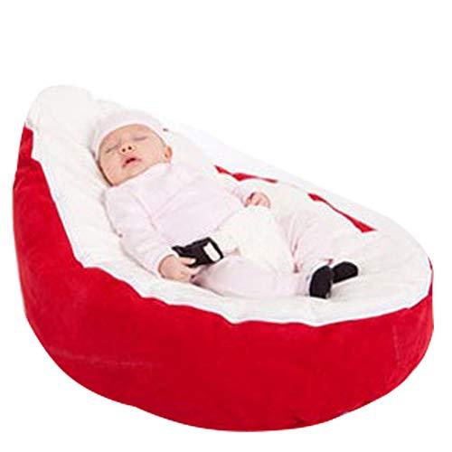AlokHnvj Faules Sofa Baby Sitzsack, Babysitz Lazy Sofa Stillbett Fütterung Liege Beweglicher Bettstuhl, Für Babys 1-24 Monate Geschenk Essentials Für Neugeborene (mit Füllung)(A)
