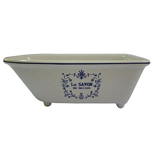 Kingston Brass BATUBRW Aqua Eden Mini bañera clásica de cerámica, 5-5/8 pulgadas x 2-15/16 pulgadas x 1-15/16 pulgadas, blanco por Kingston Brass