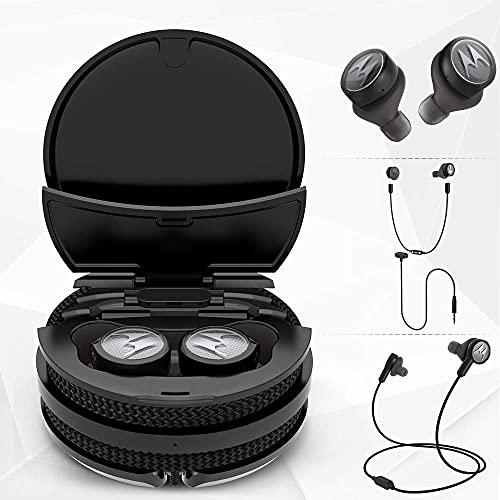 (Renewed) Motorola Tech3 3-in-1 Truly Wireless Bluetooth In Ear Neckband Headphone with Mic (Titanium-Black)