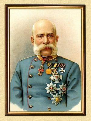 Kaiser Franz Josef I. von Österreich Sisi Wien Ungarn Orden K&K A3 105 Gerahmt