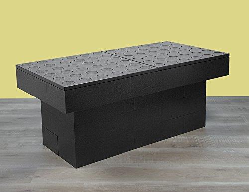 BAM - Table basse double noire modulable 114x57x48cm