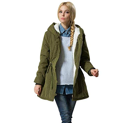 KaloryWee 2019 Herbst Winter Damen Parka Kapuzenjacke Lammwolle Baumwollmantel Dicker Outwear Mittellanger Mantel Slim Skorpion Modisch Samtmantel