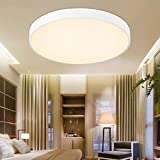 ETiME 54W LED Deckenlampe Warmweiß 60cm Deckenleuchte Rund 4860LM Deckenbeleuchtung für Esszimmer Badezimmer Schlafzimmer (Weiß Warmweiß ohne FB, 60cm Rund)