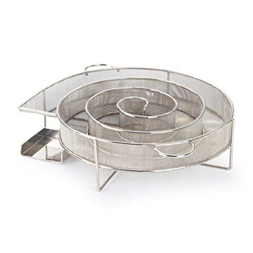 barbecook Kaltrauchgenerator Starter-Set inklusive Kerze und Räuchermehl Räucherschnecke Ø 20-cm, Silber