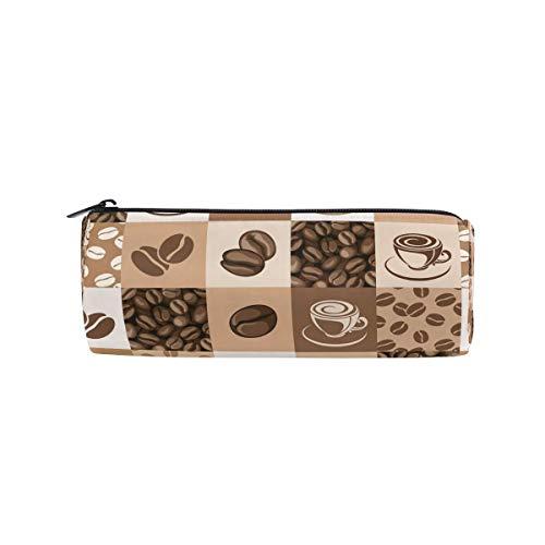 Federmäppchen, Vintage-Stil, Kaffeebohnen-Design, Federmäppchen für Schule, Büro, Kosmetik, Make-up-Tasche für Frauen