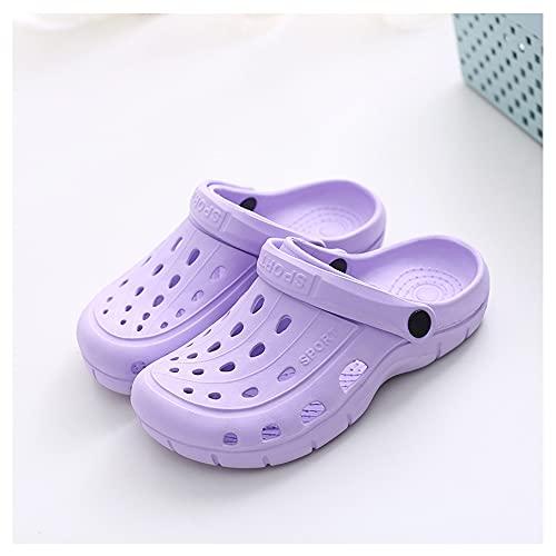 Zuecos de jardín para Mujer Mulas, Chanclas de playa Zapatos de Piscina...