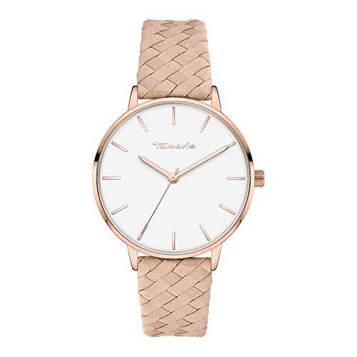 Tamaris Damen Analog Quarz Uhr mit Leder Armband TT-0009-LQ