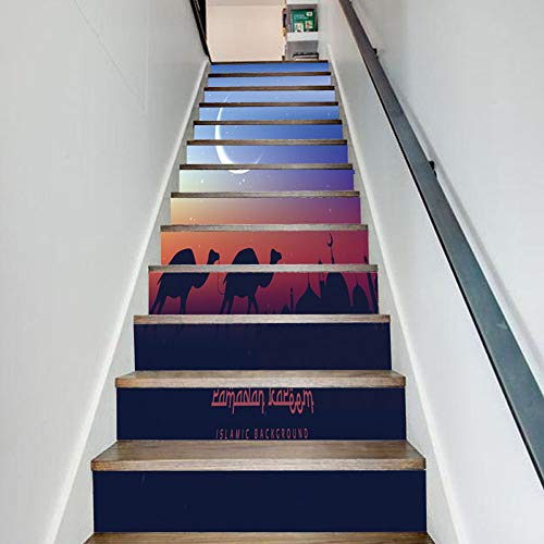 Wall Stickers WCF Staircase Stickers, Festive Decoration Stairs, Creative Decal Wallpaper Murals Art Decor Wall Cloth 9.3