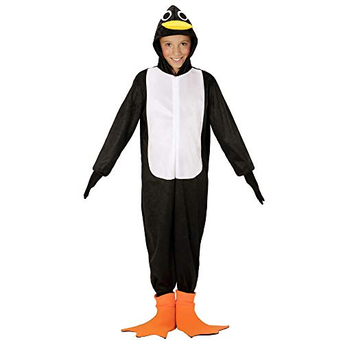 WIDMANN 08658Infantil Disfraz Pingüino, Negro/Blanco, 158 , color/modelo surtido