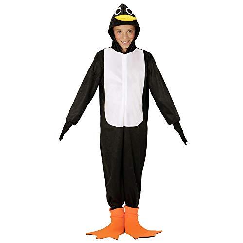 WIDMANN Disfraz de pingino para nios, color negro/blanco, 140 (WDM08657)