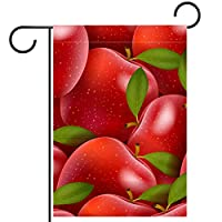 庭の旗芝生の装飾庭の装飾屋外の農家の装飾ホオジロ旗赤い果実パターン 両面バナー