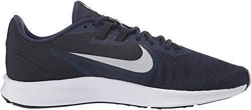 NIKE Herren Nike Downshifter 9 Schuh, Blau (Midnight Navy/Pure Platinum 401), 41 EU
